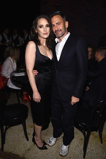 Winona Ryder e Marc Jacobs al Marc Jacobs Beauty Velvet Noir Mascara Launch dinner, New York