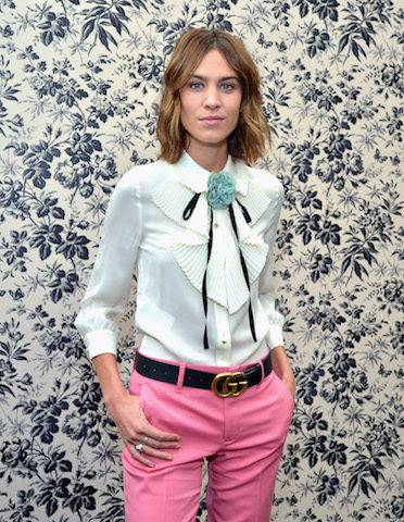 Alexa Chung attends Gucci Timepieces and Jewelry announces Florence Welch as 2016 Brand Ambassador on February 12, 2016 in Los Angeles, California.