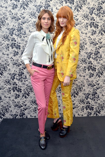 Alexa Chung e Florence Welch entrambe in Gucci alla Gucci Timepieces and Jewelry press conference, Los Angeles