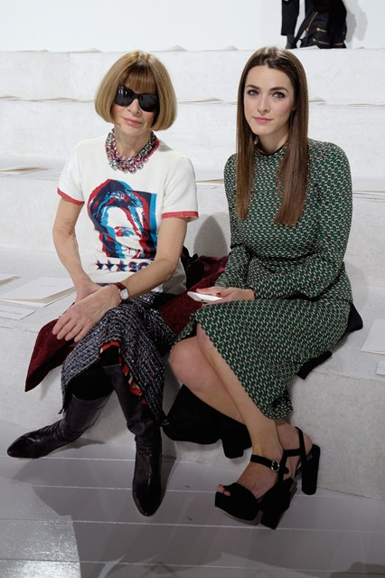Anna Wintour e la figlia Bea Shaffer alla afilata Marc Jacobs, New York