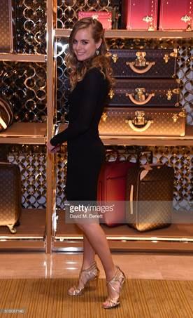 """Cressida Bonas in Casadei al """"Louis Vuitton pre-BAFTA party"""""""