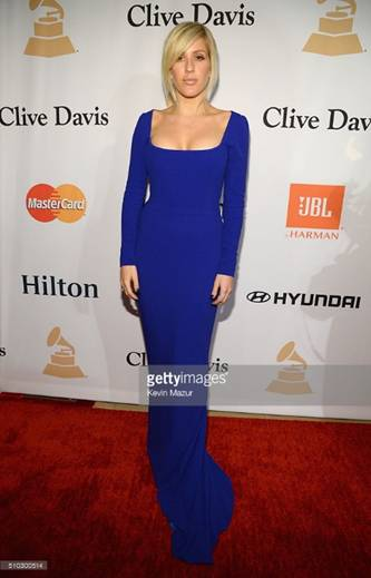 Ellie Goulding in Stella McCartney in occasione del Clive Davis Pre-Grammy Gala, LA