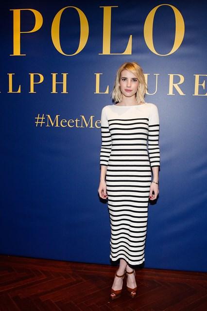Emma Roberts alla sfilata Polo Ralph Lauren, New York