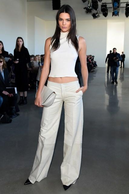 Kendall Jenner alla sfilata Calvin Klein Collection, New York