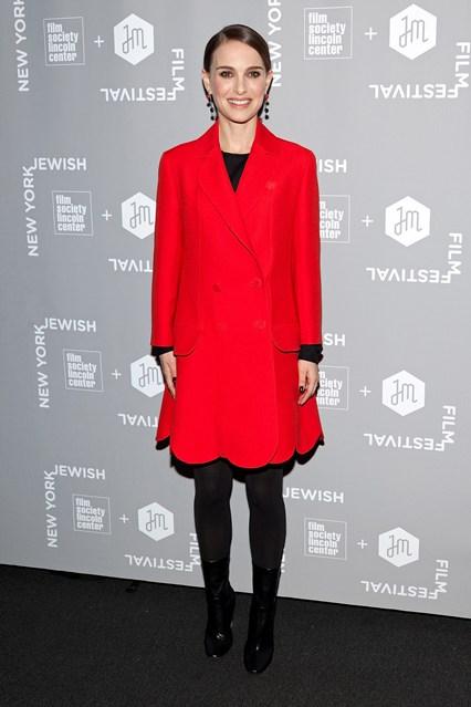 Natalie Portman con stivali Dior al A Tale Of Love And Darkness screening, New York
