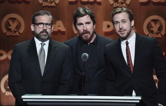 Steve Carrell, Christian Bale e Ryan Gosling ai DGA Awards
