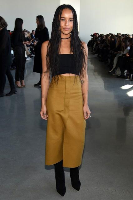 Zoe Kravitz alla sfilata Calvin Klein Collection, New York