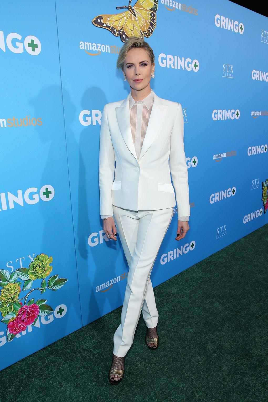 Charlize Theron in Dior e gioielli Messika alla 'Gringo' premiere, Los Angeles -
