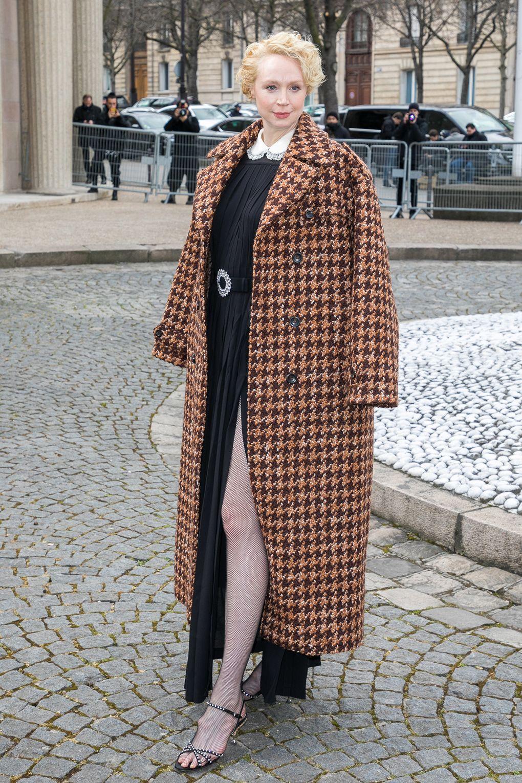 Gwendoline Christie in Miu Miu al Miu Miu show, Paris -