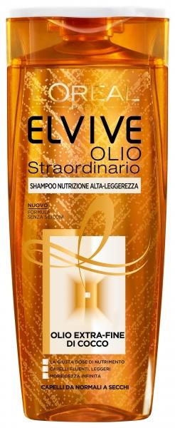 Shampoo Elvive Olio Straordinario Extra Fine di Cocco