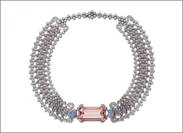 Cartier Coloratura Choker Yoshino con zaffiri e diamanti senza pendente
