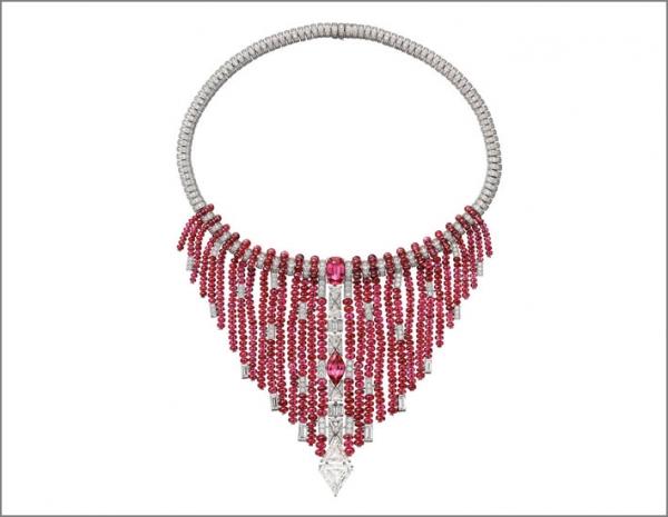 Cartier Coloratura Collana Kanaga con perle di spinello e diamanti