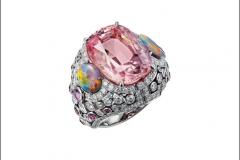 Cartier Coloratura Anello Yoshino in oro bianco, opali, zaffiri rosa, diamanti, morganite di 172 carati