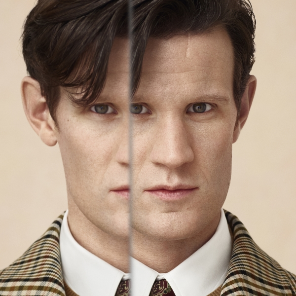 Portrait of Matt Smith - Burberry Festive Campaign 2018