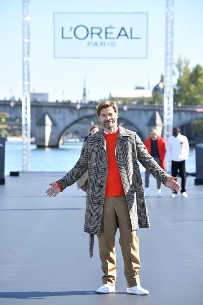 Nikolaj Coster Waldau  al L'Oreal Defilè, Paris Fashion Week