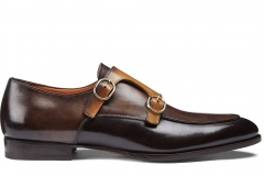Santoni_SS18_wilson_double buckle_brown