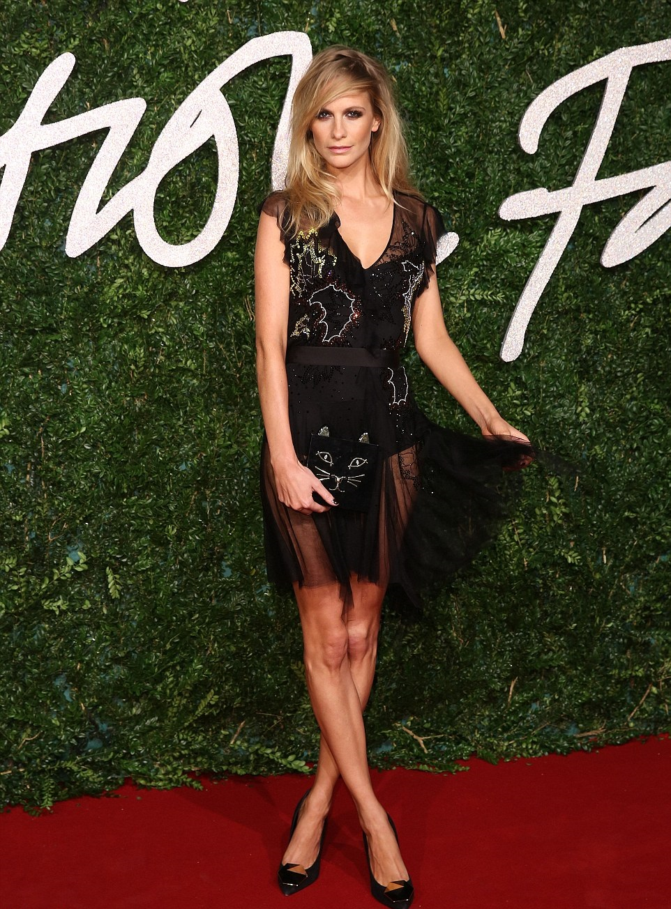 Poppy_Delevingne Topshop dress