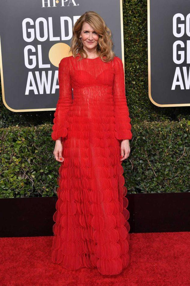 Laura Dern in Valentino ai Golden Globes 2019
