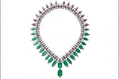 Cartier Coloratura Collana Chromaphonia con 22 smeraldi afgani, spinello, granato mandarino, onice, diamanti