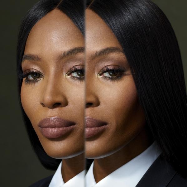 Portrait of Naomi Campbell - Burberry Festive Campaign 2018
