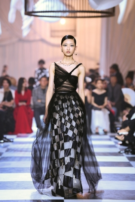 > Christian Dior Haute-Couture Spring/Summer 2018 show at MinshengArt Wharf on March 29, 2018 in Shanghai, China.