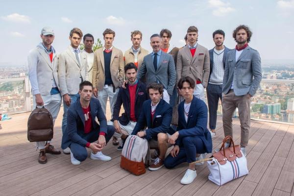 Marco Baldassari Dir Creat Eleventy e i modelli Collezione SS19