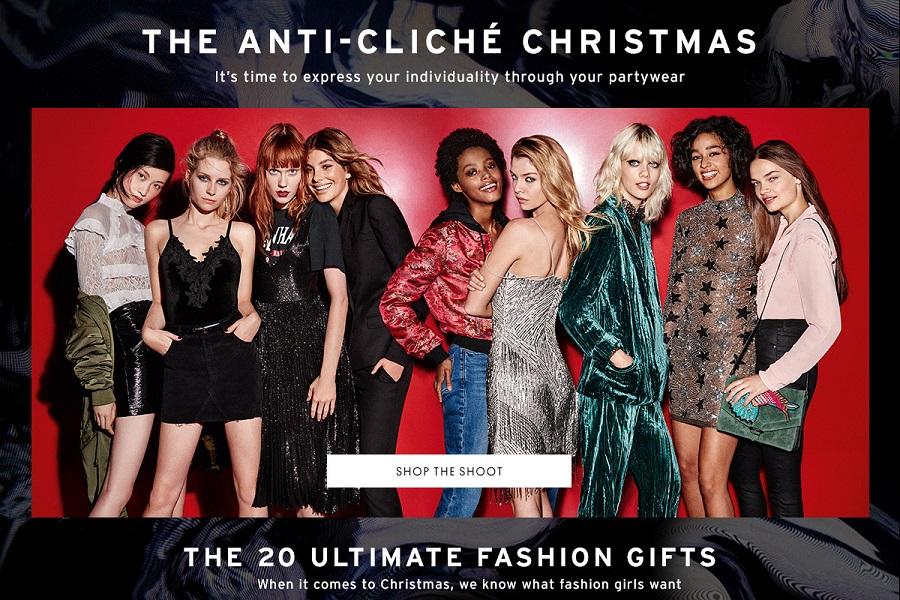 Topshop Christmas Campaign 2016